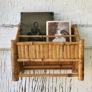 Vintage Bamboo Shelf Wall Hanging